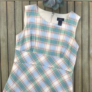 """""""346"""" Brooks Brothers plaid a-line dress"""